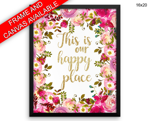 This Is Our Happy Place Print, Beautiful Wall Art with Frame and Canvas options available  Decor