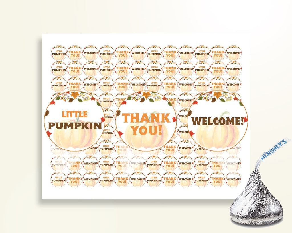 Hershey Kisses Baby Shower Hershey Kisses Autumn Baby Shower Hershey Kisses Baby Shower Pumpkin Hershey Kisses Orange Brown prints OALDE - Digital Product