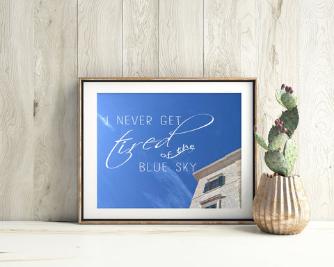 Wall Art Blue Sky Digital Print Blue Sky Poster Art Blue Sky Wall Art Print Blue Sky Photography Art Blue Sky Photography Print Blue Sky - Digital Download