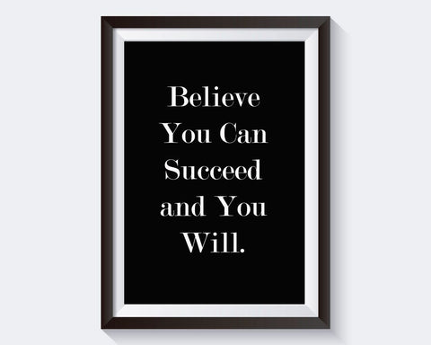 Wall Art Believe In Yourself Digital Print Believe In Yourself Poster Art Believe In Yourself Wall Art Print Believe In Yourself optimism - Digital Download