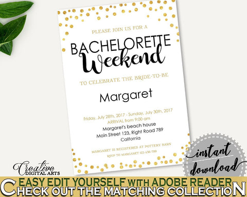 Bachelorette Weekend Invitation Bridal Shower Bachelorette Weekend Invitation Confetti Bridal Shower Bachelorette Weekend Invitation CZXE5 - Digital Product