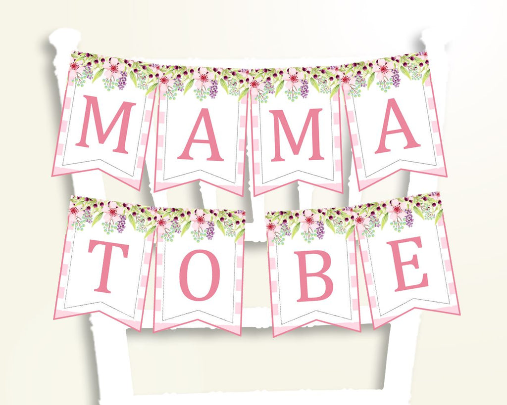 Chair Banner Baby Shower Chair Banner Pink Baby Shower Chair Banner Baby Shower Flowers Chair Banner Pink Green party stuff pdf jpg 5RQAG - Digital Product