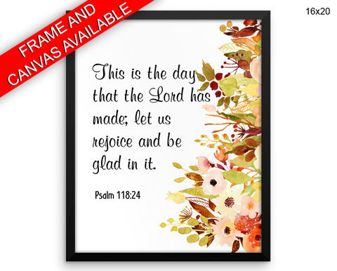 Holy Scripture Print, Beautiful Wall Art with Frame and Canvas options available Bible Decor