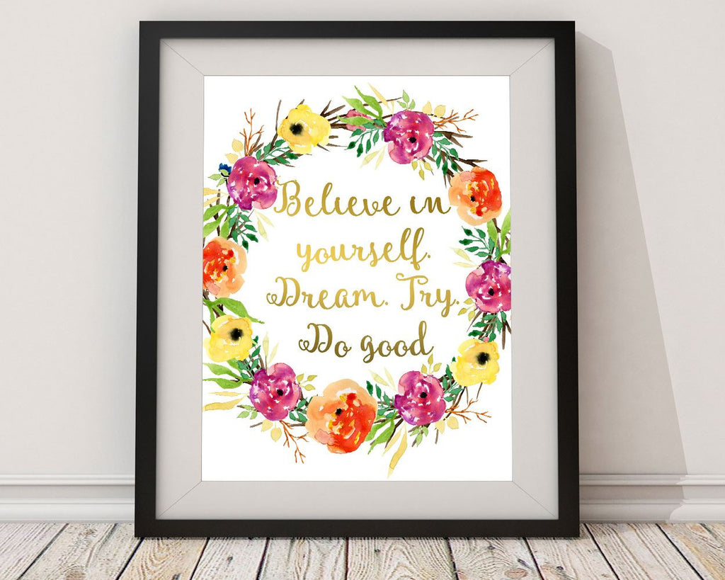 Wall Art Believe Digital Print Believe Poster Art Believe Wall Art Print Believe Optimism Art Believe Optimism Print Believe Wall Decor - Digital Download