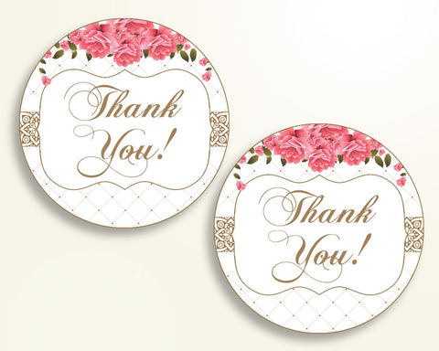 Favor Tags Baby Shower Favor Tags Roses Baby Shower Favor Tags Baby Shower Roses Favor Tags Pink White party organizing party theme U3FPX - Digital Product
