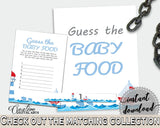Baby Food Guessing Baby Shower Baby Food Guessing Nautical Baby Shower Baby Food Guessing Baby Shower Nautical Baby Food Guessing Blue DHTQT - Digital Product