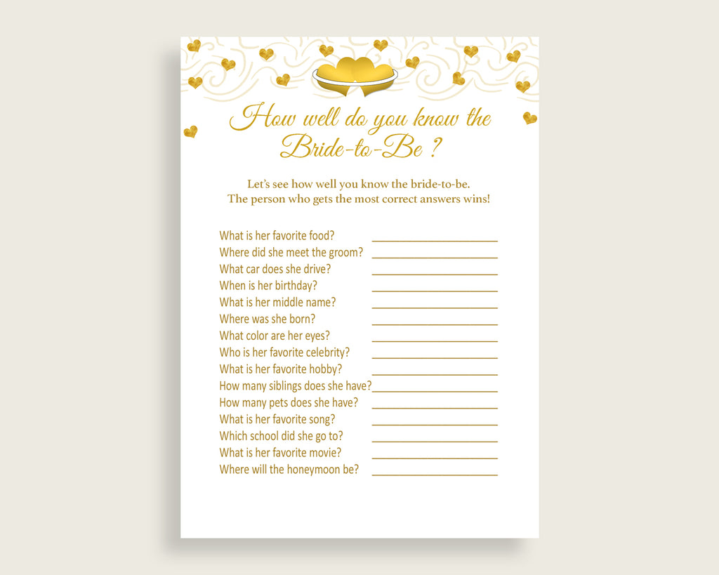 how well do you know the bride to be bridal shower how well do you know