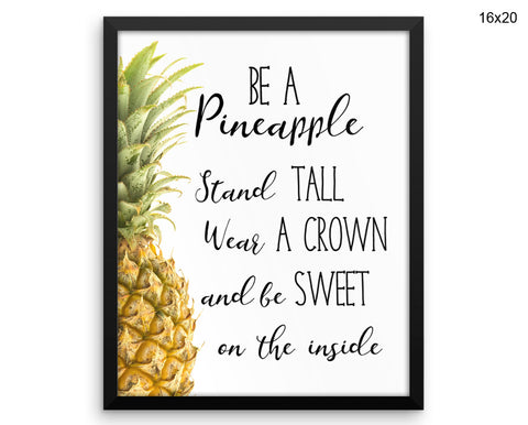 Pineapple Print, Beautiful Wall Art with Frame and Canvas options available Inspiring Decor