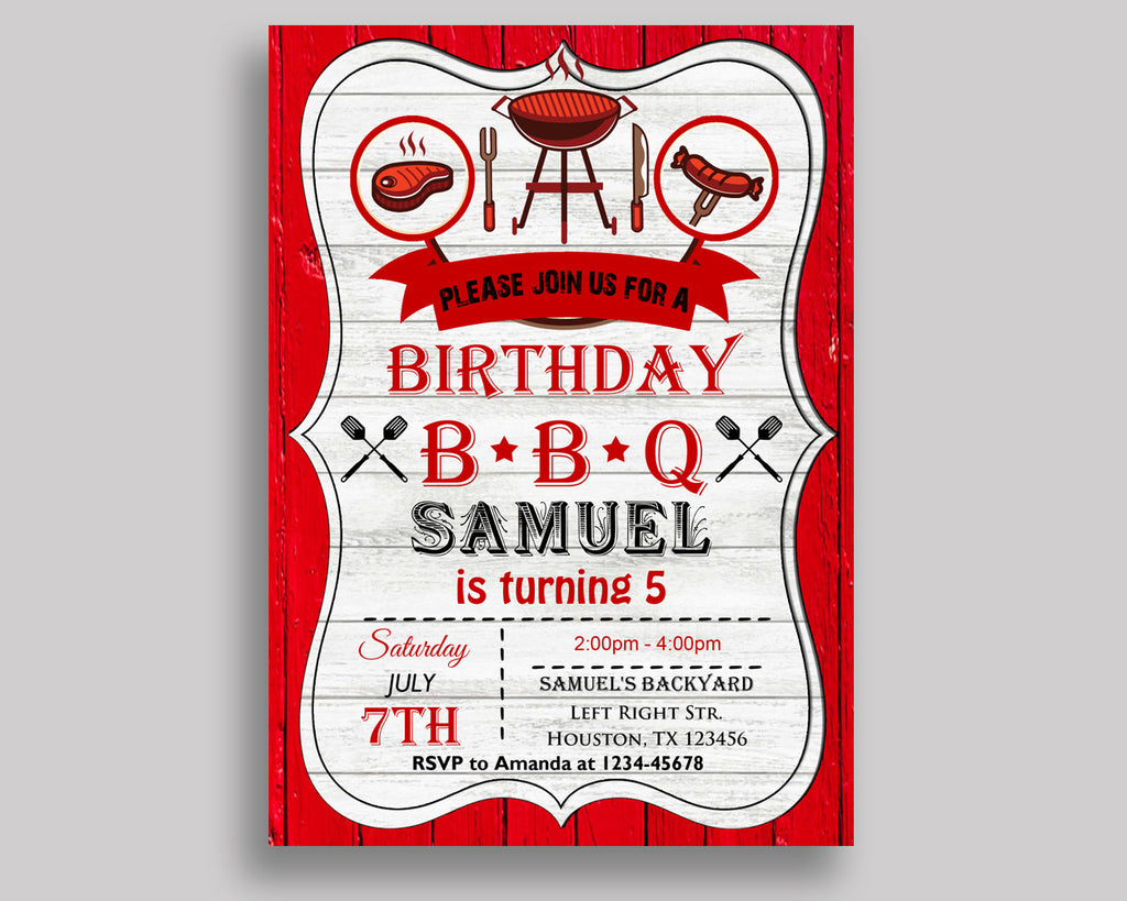 editable birthday invitation bbq birthday party invitation editable