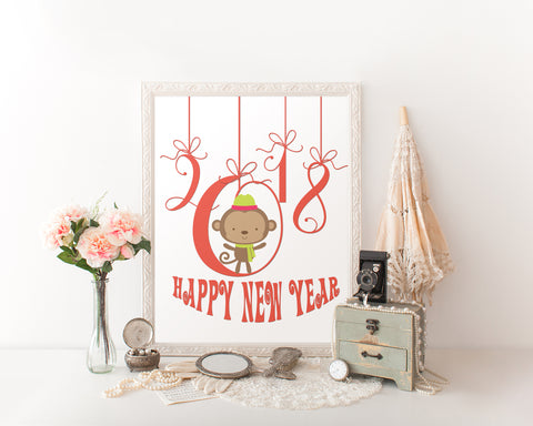 Wall Art Happy New Year Digital Print Happy New Year Poster Art Happy New Year Wall Art Print Happy New Year New Year Art Happy New Year New - Digital Download