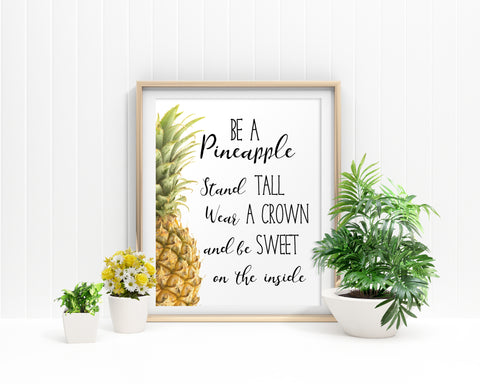 Pineapple Framed Print Available Pineapple Canvas Print Available Pineapple Inspiring Art Pineapple Inspiring Print Pineapple Printed - Digital Download