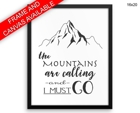 Mountains Print, Beautiful Wall Art with Frame and Canvas options available Adventure Decor