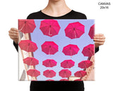 Red Umbrella Print, Beautiful Wall Art with Frame and Canvas options available Photography Decor