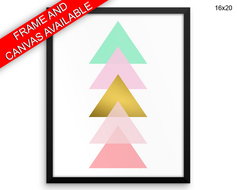 Abstract Geometric Print, Beautiful Wall Art with Frame and Canvas options available  Decor