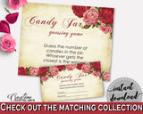 Candy Guessing Game Bridal Shower Candy Guessing Game Vintage Bridal Shower Candy Guessing Game Bridal Shower Vintage Candy Guessing XBJK2 - Digital Product