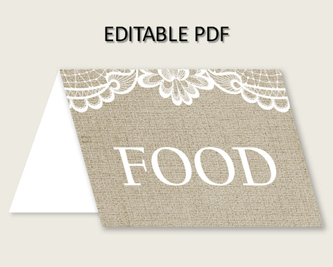 Food Tent Bridal Shower Food Tent Burlap And Lace Bridal Shower Food Tent Bridal Shower Burlap And Lace Food Tent Brown White prints NR0BX