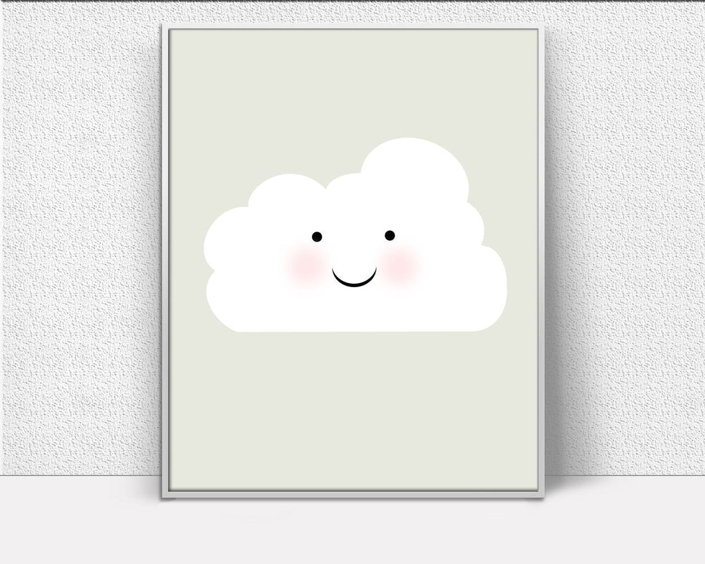 Cloud Nursery Decor, Gifts For Her, Cloud Wall Art, Wall art prints, thank you gift, office gift, Artwork Prints, Inspiring Minimalist Print - Digital Download