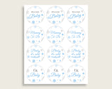 Cupcake Toppers And Wrappers Baby Shower Cupcake Toppers And Wrappers Snowflake Baby Shower Cupcake Toppers And Wrappers Blue Gray NL77H