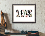 Wall Art Love Grows Digital Print Love Grows Poster Art Love Grows Wall Art Print Love Grows Home Art Love Grows Home Print Love Grows Wall - Digital Download