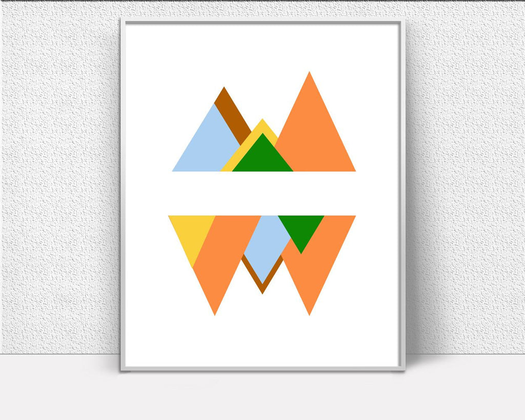 Wall Art Modern Digital Print Mid Century Poster Art Modern Wall Art Print Mid Century  Wall Decor Modern colourful colorful wall art - Digital Download