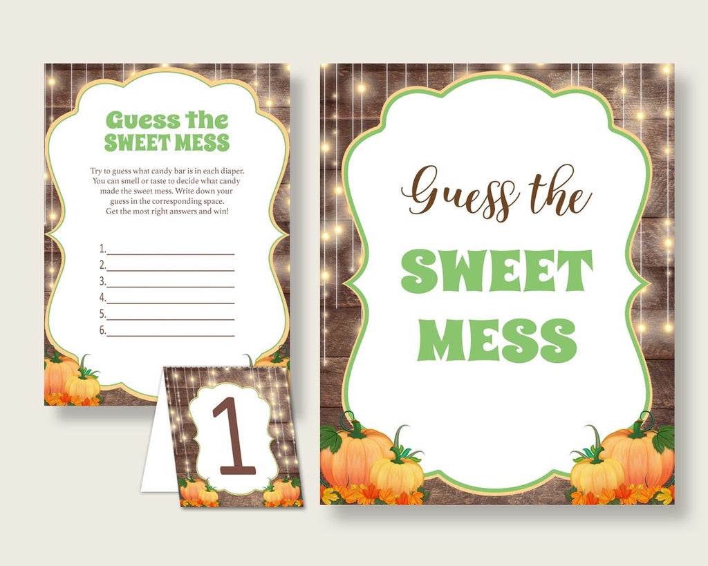 Sweet Mess Baby Shower Sweet Mess Autumn Baby Shower Sweet Mess Baby Shower Autumn Sweet Mess Brown Orange digital print party plan 0QDR3 - Digital Product