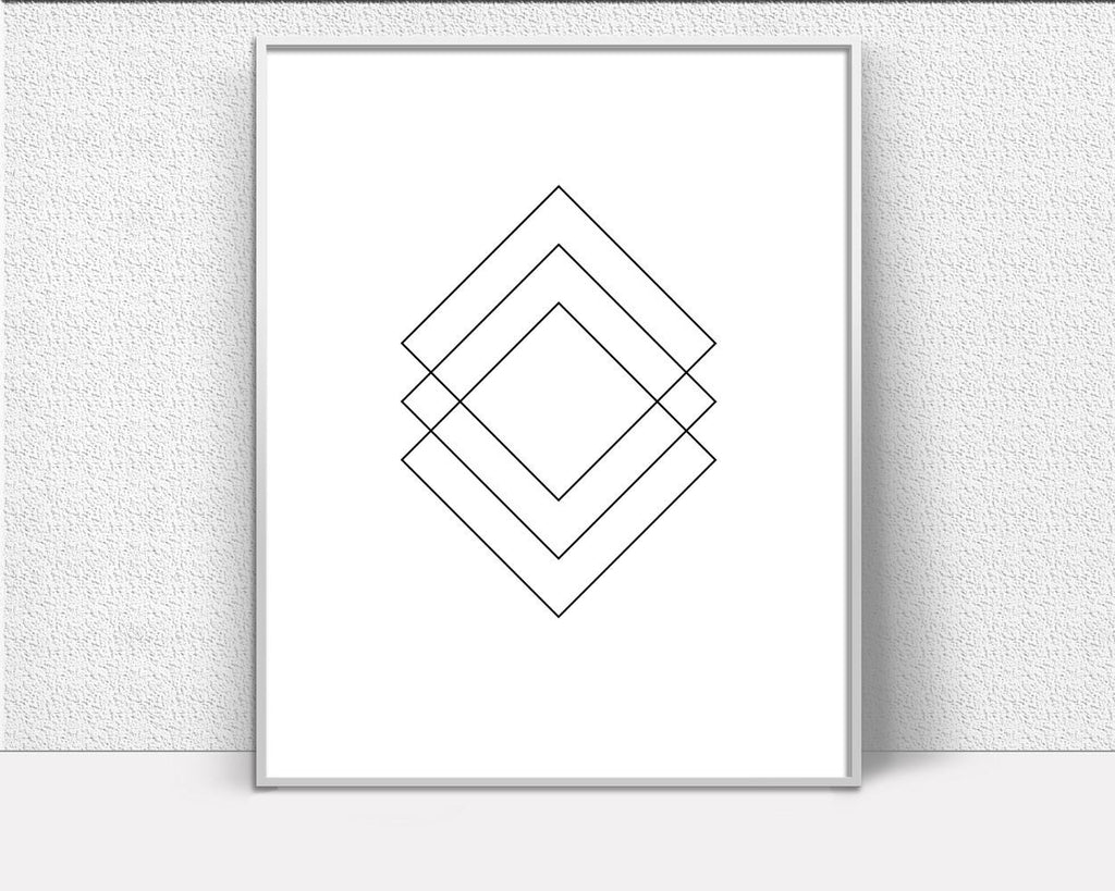 Wall Art Geometric Shape Digital Print Geometric Shape Poster Art Geometric Shape Wall Art Print Geometric Shape Scandi Art Geometric Shape - Digital Download