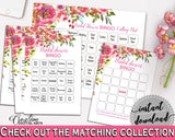 Bingo Bridal Shower Bingo Spring Flowers Bridal Shower Bingo Bridal Shower Spring Flowers Bingo Pink Green party plan, party stuff UY5IG - Digital Product