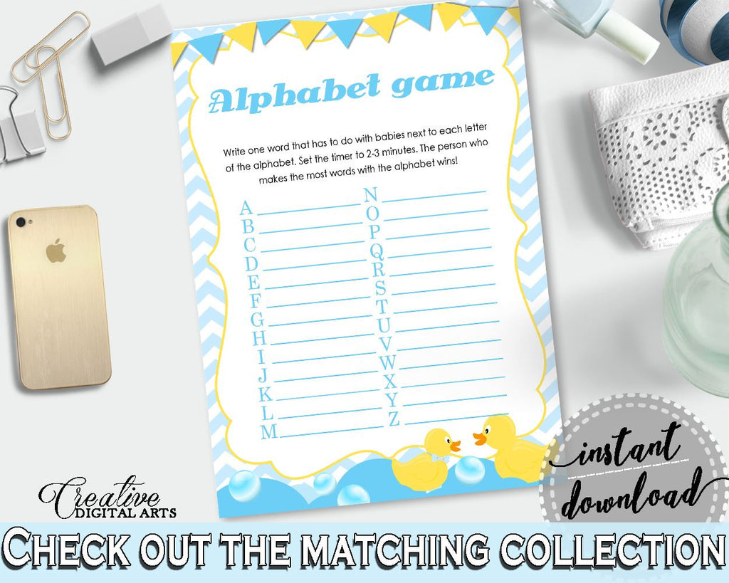 Baby Shower Farm Baby Shower Mint Baby Words Grammar Game ALPHABET GAME, Prints, Party Theme, Baby Shower Idea - rd002 - Digital Product