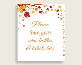Wine Raffle Bridal Shower Wine Raffle Fall Bridal Shower Wine Raffle Bridal Shower Autumn Wine Raffle Brown Yellow printables YCZ2S