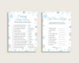 Games Baby Shower Games Snowflake Baby Shower Games Blue Gray Baby Shower Snowflake Games customizable files pdf jpg party ideas NL77H