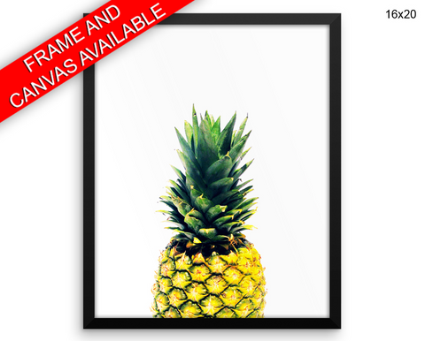 Pineapple Print, Beautiful Wall Art with Frame and Canvas options available Nature Decor