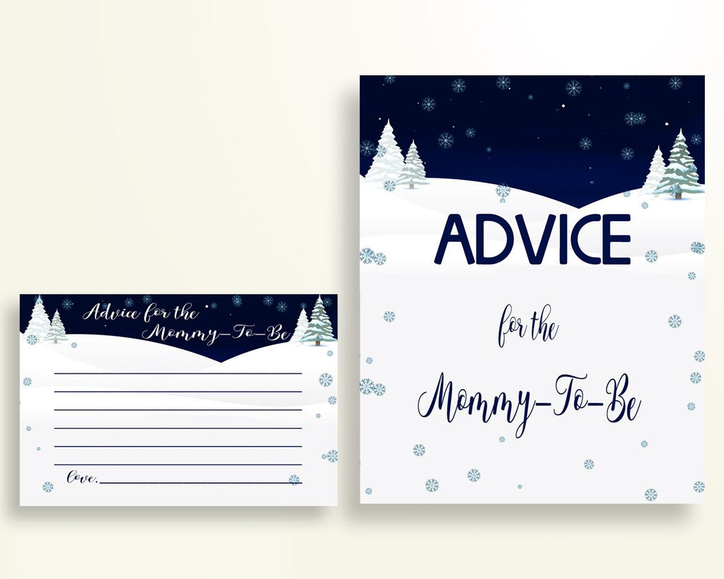 Advice Cards Baby Shower Advice Cards Winter Baby Shower Advice Cards Baby Shower Winter Advice Cards Blue White party decorations 3E6QO - Digital Product