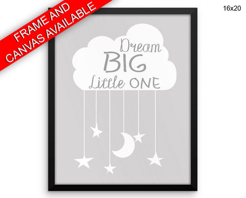 Dreaming Print, Beautiful Wall Art with Frame and Canvas options available Nursery Decor