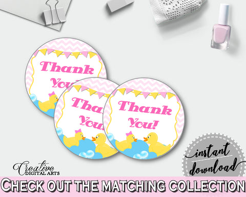 Favor Tags Baby Shower Favor Tags Rubber Duck Baby Shower Favor Tags Baby Shower Rubber Duck Favor Tags Purple Pink party décor rd001