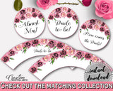 Cupcake Toppers And Wrappers Bridal Shower Cupcake Toppers And Wrappers Floral Bridal Shower Cupcake Toppers And Wrappers Bridal BQ24C - Digital Product