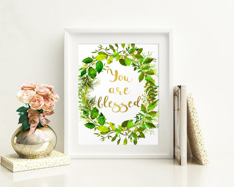 Wall Art You Are Blessed Digital Print You Are Blessed Poster Art You Are Blessed Wall Art Print You Are Blessed Nursery Art You Are Blessed - Digital Download