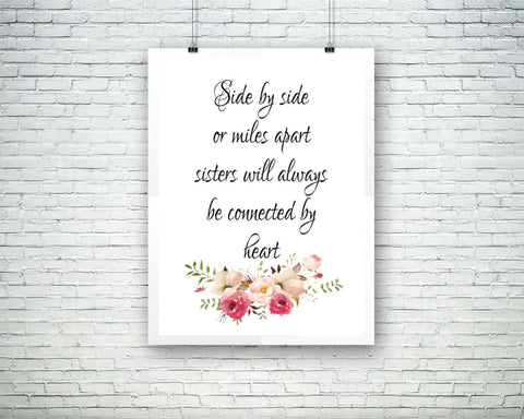 Wall Art Sisters Digital Print Sisters Poster Art Sisters Wall Art Print Sisters Typography Art Sisters Typography Print Sisters Wall Decor - Digital Download