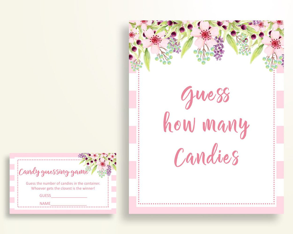 Candy Guessing Baby Shower Candy Guessing Pink Baby Shower Candy Guessing Baby Shower Flowers Candy Guessing Pink Green party décor 5RQAG - Digital Product