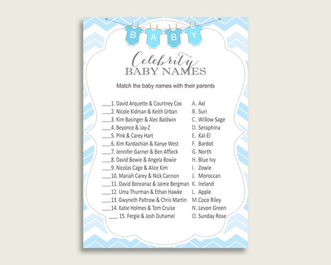 photograph relating to Celebrity Baby Name Game Printable referred to as Boy or girl Shower Web site 33 Studio 118
