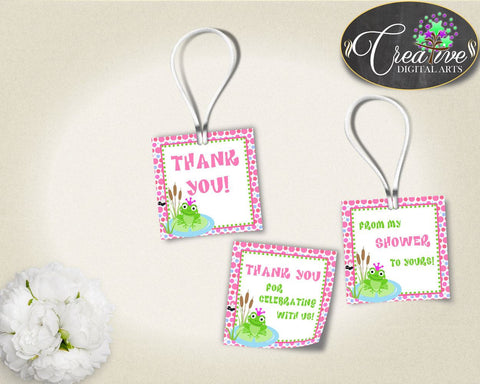 Baby Shower Frog Shower Frog Theme Favour Sickers Thanks Labels FAVOR TAGS, Party Ideas, Prints, Party Theme - bsf01 - Digital Product