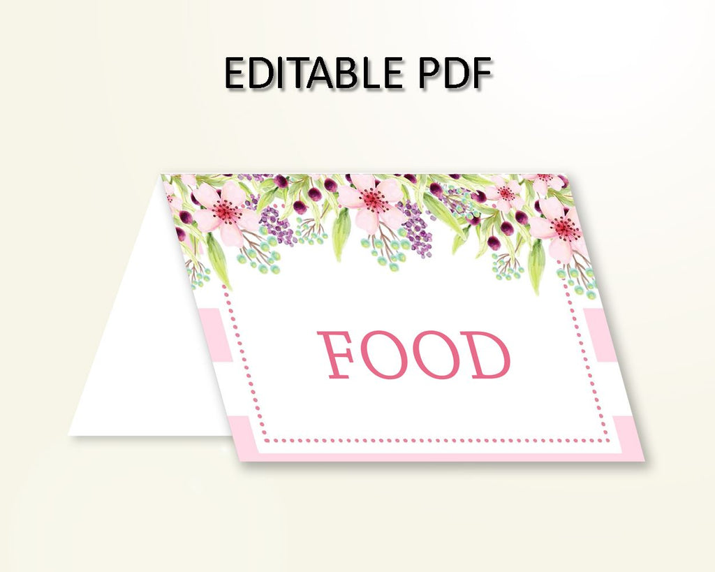 Food Tents Baby Shower Food Tents Pink Baby Shower Food Tents Baby Shower Flowers Food Tents Pink Green party organising printables 5RQAG - Digital Product