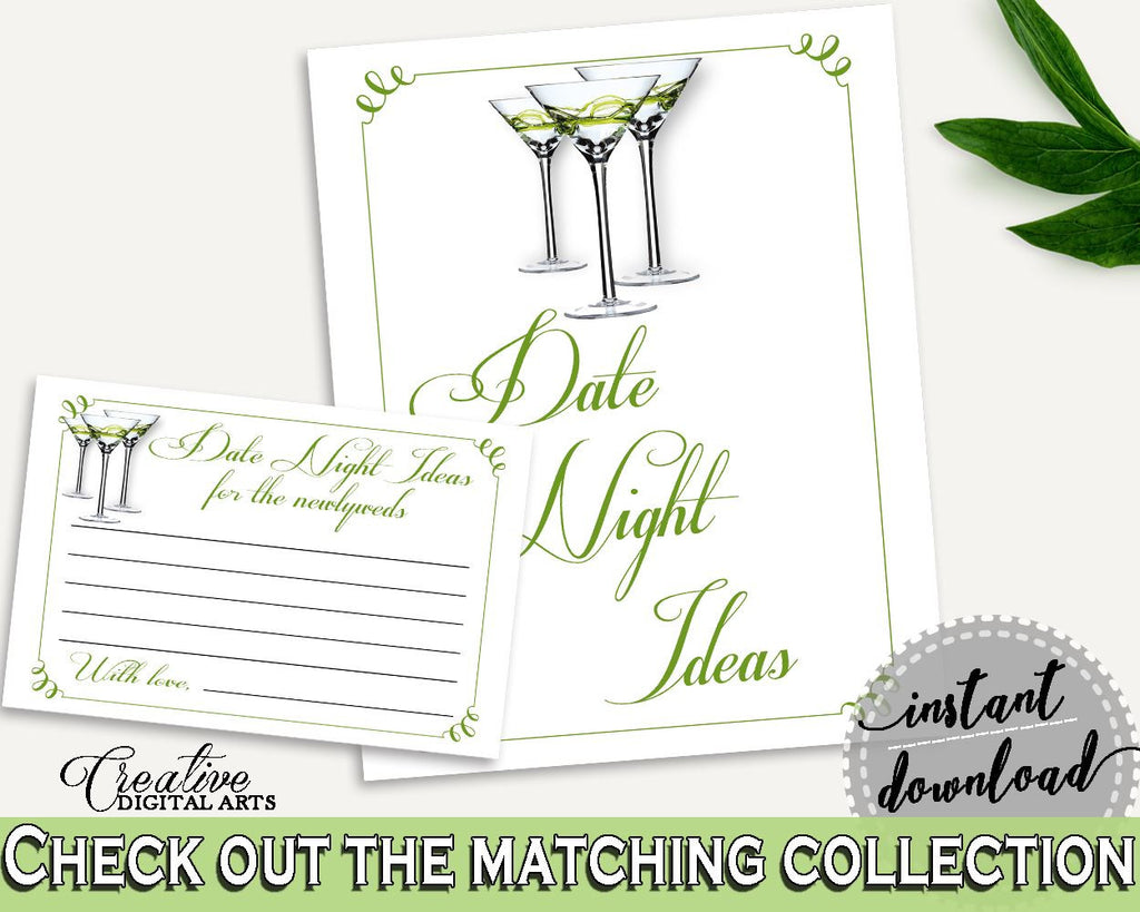 Date Night Ideas Bridal Shower Date Night Ideas Modern Martini Bridal Shower Date Night Ideas Bridal Shower Modern Martini Date Night ARTAN - Digital Product