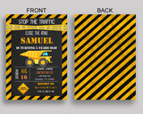 Construction Birthday Invitation Construction Birthday Party Invitation Construction Birthday Party Construction Invitation Boy RIK4A - Digital Product