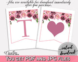 Banner Bridal Shower Banner Floral Bridal Shower Banner Bridal Shower Floral Banner Pink Purple customizable files, printable files BQ24C - Digital Product