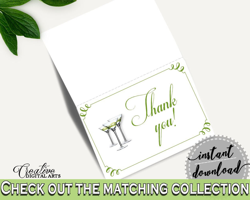 Thank You Card Bridal Shower Thank You Card Modern Martini Bridal Shower Thank You Card Bridal Shower Modern Martini Thank You Card ARTAN - Digital Product