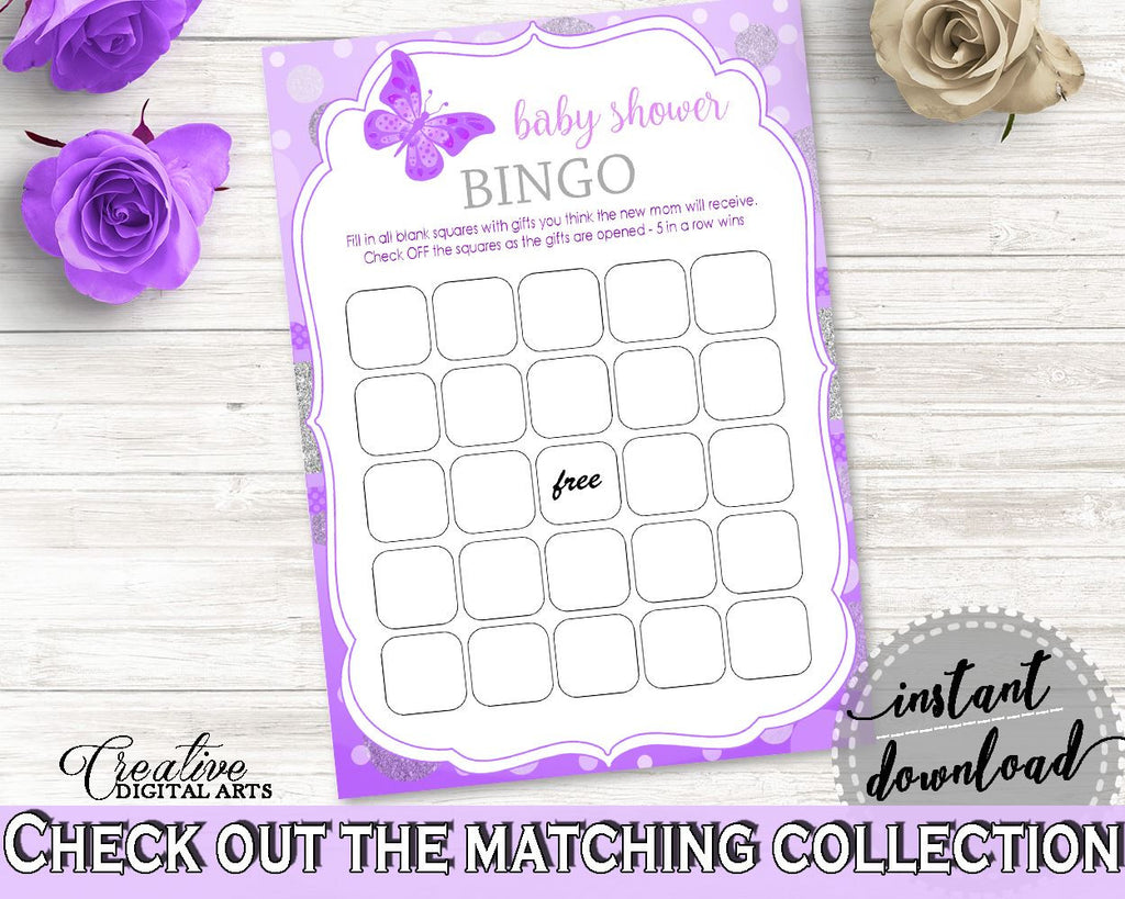 Bingo Gift Game Baby Shower Bingo Gift Game Butterfly Baby Shower Bingo Gift Game Baby Shower Butterfly Bingo Gift Game Purple Pink 7AANK - Digital Product