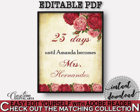 Days Until Becomes Bridal Shower Days Until Becomes Vintage Bridal Shower Days Until Becomes Bridal Shower Vintage Days Until Becomes XBJK2 - Digital Product
