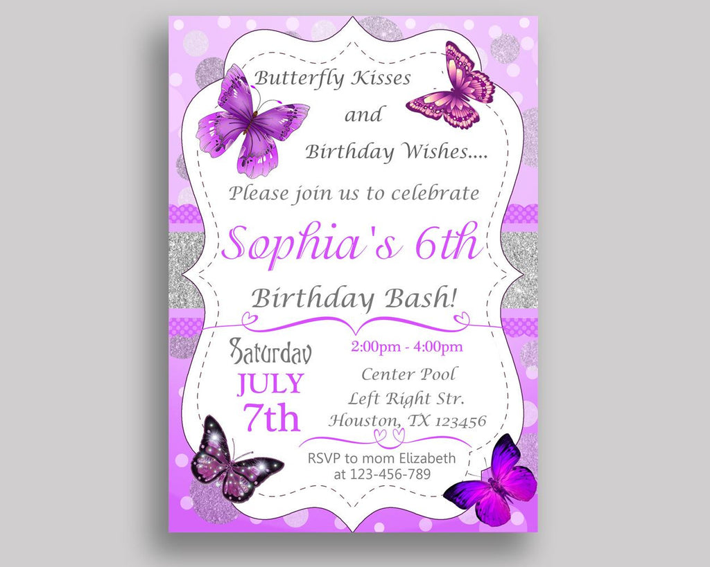 Butterfly Birthday Invitation Butterfly Birthday Party Invitation - Butterfly birthday invitation images