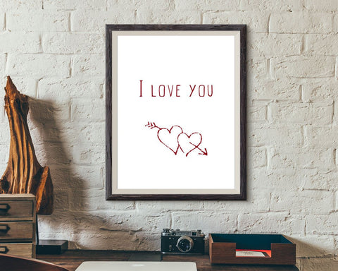 Wall Decor I Love You Printable I Love You Prints I Love You Sign I Love You Love Art I Love You Love Print I Love You Printable Art I Love - Digital Download