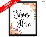 Shoes Guests Print, Beautiful Wall Art with Frame and Canvas options available  Decor